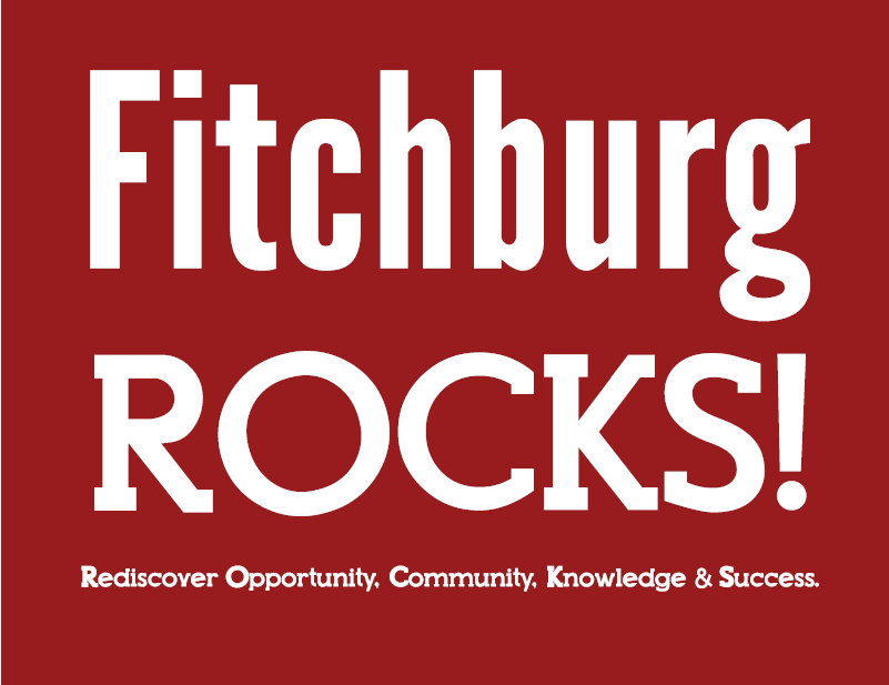 Fitchburg Rocks Logo Red Sq