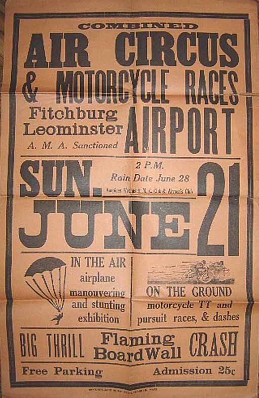 Historic Air Circus Pamphlet